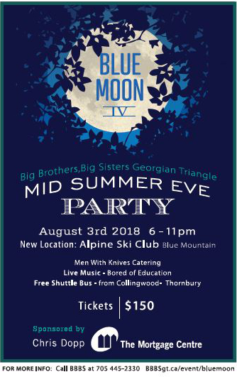 Blue Moon Mid Summer Eve Party Big Brothers Big Sisters Of The